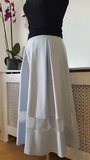TOPSHOP Duckegg Blue Box Pleated Ladies Flared Skirt Size 8 10 BNWT