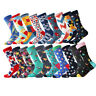 Mens Cotton Socks Novelty Bright Colored Funny Causal Dress SOX For Wedding Gift