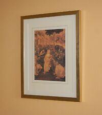Leonardo-estudio inacabado para la adoración de los Reyes-enmarcado impresión litográfica