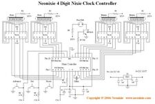 4 Digit Nixie Tube Clock Controller Chip by Neonixie, BCD output