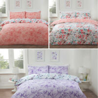Luxury Watercolour Duvet Cover with Pillowcases Floral Reversible Bedding Set
