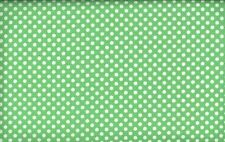 1 Yard 35 Inches of Green with White Dots  Quilting Fabric