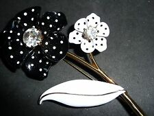 "VINTAGE HUGE 4""POLKA DOT FLOWER BROOCH  1960'S  SIGNED AVON  BY RICCI"