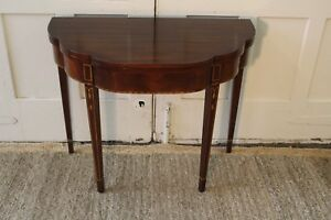 Henkel Harris Mahogany Flip Top Hall Game Table
