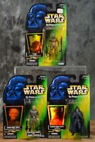 1996 1997 Kenner Star Wars POTF COLLECTION 2 & 3 LOT OF 3 Figures Free Shipping