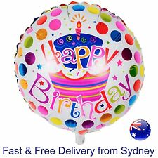 Happy birthday cake balloon with candle party balloons celebration fete parties