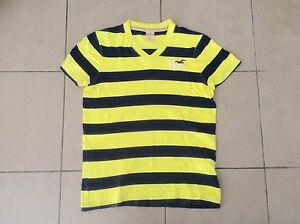 HOLLISTER  by A&F     V neck  T shirt   Yellow x Navy    Size S