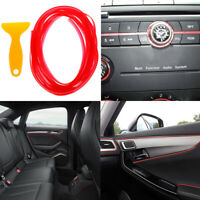 5M Red flexible car styling interior molding trim decorate strip gap 'fillerVBUK
