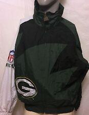 VTG Logo Athletic Green Bay Packers NLF Pro Line Jacket Sz Medium NFL Football