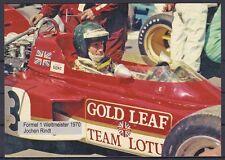 Jochen Rindt Formel 1 Gedenkkarte Weltmeister 1970