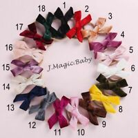 Newborn Baby Girls Soft Nylon Velvet Headband Bow Knot Hair Accessories Hairwrap