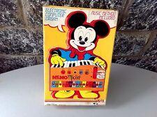 rare 80s MICKEY MOUSE tastiera Bontempi AVRIL Electronic organ Walt Disney NIB