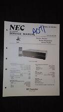NEC av-360 bu Service Manual Original Repair av stereo center audio video