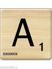Your Own Personalised Scrabble Drink Coaster, Any Name. Any Letter. Great Gift