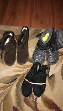 lot of 3 Girls Toddler black  brown silver  high low Boots Sz 7 euc