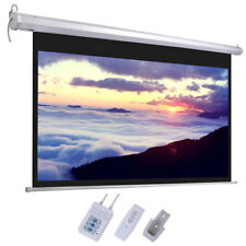 new 100u201d 169 hd foldable electric motorized projector screen remote control - Projection Screens