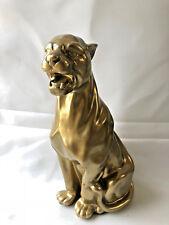 GOLD Panter,  Leopard 80cm groß Designer Deko Figur, Modern