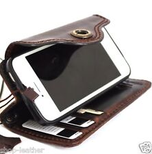 genuine real leather case for iphone 5s 5c SE book wallet cover handmade Davis