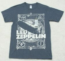 New 707 Gray Graphic T-Shirt Top Small Man's Short Sleeve Cotton Led Zeppelin