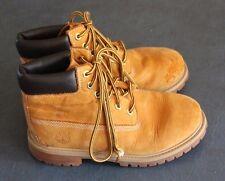 """TIMBERLAND Boys 6"""" WHEAT LEATHER Waterproof 12709 Hiking Boot size 2 US 34 EU"""