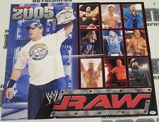 Shawn Michaels Edge Ric Flair Chris Masters Signed WWE 21x24 Poster PSA/DNA COA