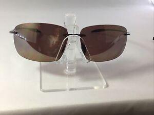 MAUI JIM Breakwall Polarised Sunglasses 422-26 Rootbeer Bronze Pre Owned FRAMES