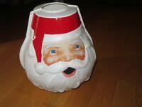 Santa Head Light Post Lamp Post Cover Christmas (Z899)