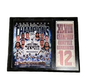 Seattle Seahawks 2014 Super Bowl XLVIII World Champion Wall Plaque 12th Man