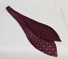 Silk Ascot Red, Blue Gold