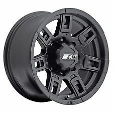 "16X8 MICKEY THOMPSON SIDEBITER II BLACK WHEEL 16"" 8x170MM FORD"