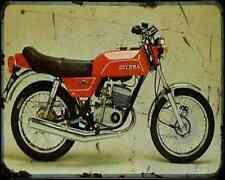 GILERA Tg1 125 80 A4 Imprimé Photo moto Vintage Aged