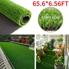 65x6ft Artificial Grass Turf Floor Mat Fake Synthetic Garden Landscape Lawn Yard