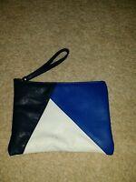 NEXT PURSE BAG MAKE UP BAG BLUE WHITE RARE