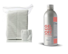 THE EDGE NAIL UV GEL FINISHING WIPE OFF SOLUTION 200ml & 200 LINT FREE WIPES
