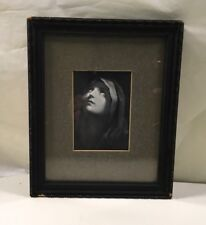 Vintage Wall Art Girl Looking Sky Religious Praying Framed picture Black White