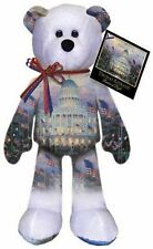 Thomas Kinkade Flags Over the Capital Collector Bear Great Gift Ideal