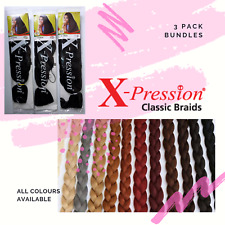 X-PRESSION (XPRESSION) ULTRA BRAID HAIR EXTENSIONS FOR BRAIDING 3 PACK BUNDLES