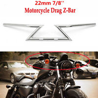 Motorcycle Drag Z-Bar Handlebar 22mm 7/8 For Honda Yamaha Harley Chopper Bobber