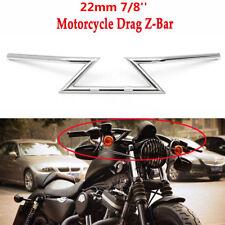 Motorcycle Handlebar Qiilu Motorcycle Handlebar Z Bar for Yamaha Honda Suzuki Chopper Bobber 25mm-Silver