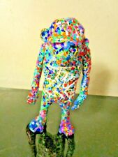 "MUSK YAI HAND PAINTED BANKSY Laugh Now 6"" DIY Vinyl Art Toy Figure MONKEY"
