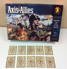 Complete Set of 10 Marshaling Cards 2004 Axis & Allies Parts Only