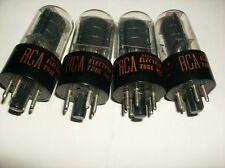 LOT OF 4 - 6K6 GT - RCA RADIO TUBES TV-7 D/U TESTED