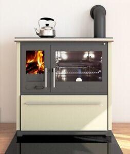 EEK A+ Küchenofen Holzherd Plamen 850 creme, rechte Version - 8 kW Dauerbrand...