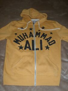 ROOTS OF FIGHT BOXING MUHAMMAD ALI  ZIPPERED HOODIE SWEATSHIRT, sz. Large (NEW)