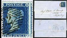 1858 2d Blue NC Placa 6 Lc16 utilizado en toda Gato valor £ 550 Sg 36a v69536