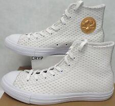 New Mens 13 Converse CTAS Hi White Gold Leather Shoes $75 153115C