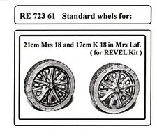Attack RE72361 1/72 WWII German Std. wheels for 21cm Mrs,18/17cm K18 Mrs