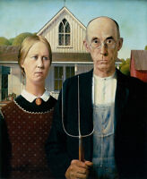 ART PRINT POSTER - AMERICAN GOTHIC, 1930 by Grant Wood 11x14