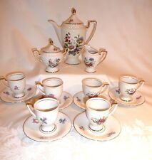 Tea Coffee Espresso set- 22K Gold- Waldershof Bavaria-Germany-Handarbeit-17 Pc.