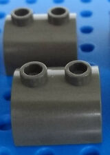 LEGO Dark Gray Brick, Modified 2 x 2 Curved Top Lot/2 Top Studs 5988 5978 7130